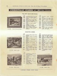 CHRISTMAS CARDS  ART GRAVURE SERIES & OILETTE GEMS