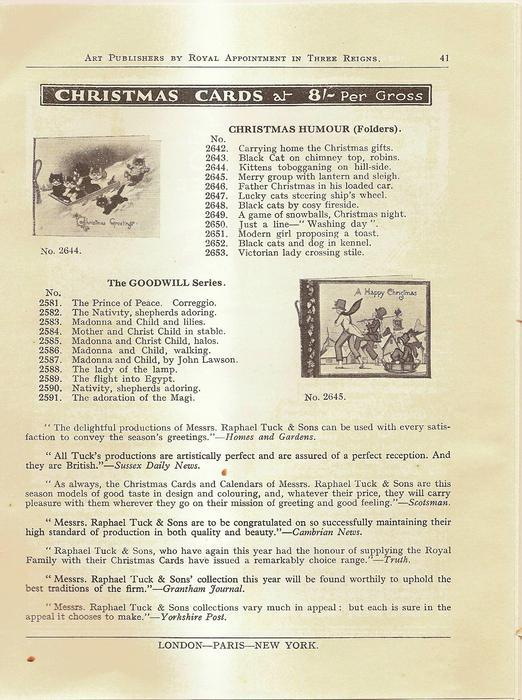 CHRISTMAS CARDS, CHRISTMAS HUMOUR (folders), THE GOODWILL SERIES