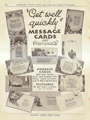 """GET WELL QUICKLY"" MESSAGE CARDS AND POSTCARDS"