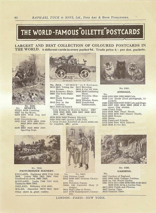 """THE WORLD-FAMOUS """"OILETTE"""" POSTCARDS"""