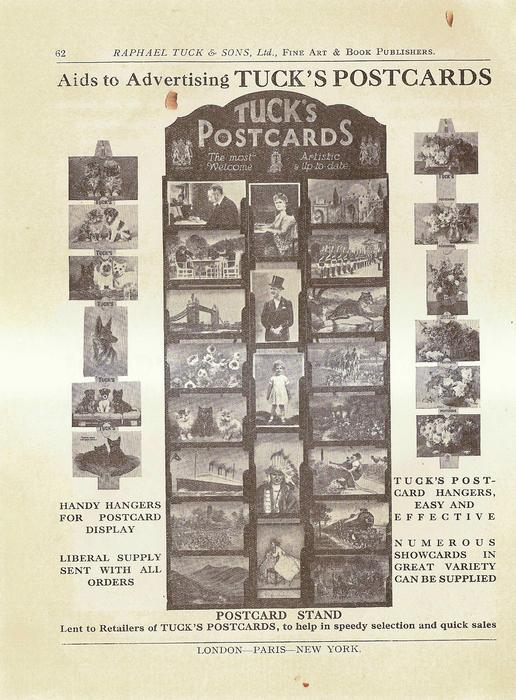 AIDS TO ADVERTISING TUCK'S POSTCARDS