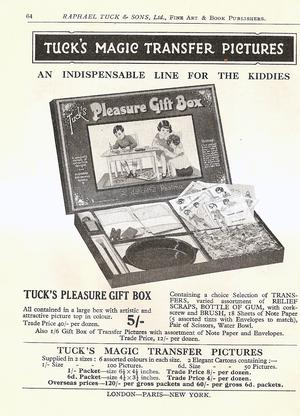 TUCK'S MAGIC TRANSFER PICTURES, TUCK'S PLEASURE GIFT BOX