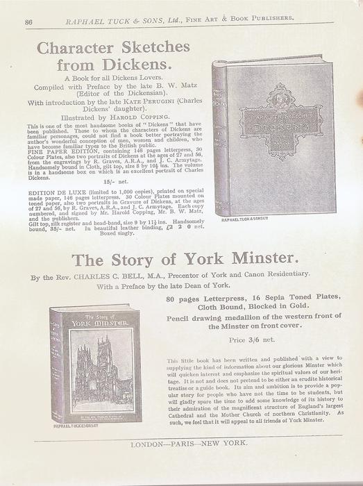 CHARACTER SKETCHES FROM DICKENS  THE STORY OF YORK MINISTER