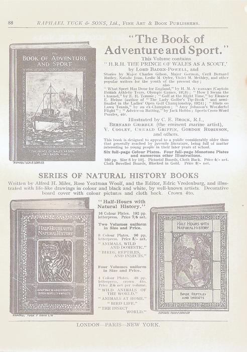 THE BOOK OF ADVENTURE AND SPORT - SERIES OF NATURAL HISTORY BOOKS
