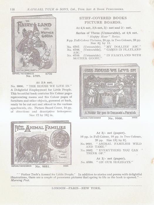 STIFF-COVERED BOOKS  PICTURE BOARDS