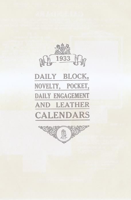 DAILY BLOCK, NOVELTY, POCKET, DAILY ENGAGEMENT AND LEATHER CALENDARS