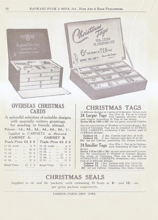 OVERSEAS CHRISTMAS CARDS - CHRISTMAS TAGS - CHRISTMAS SEALS