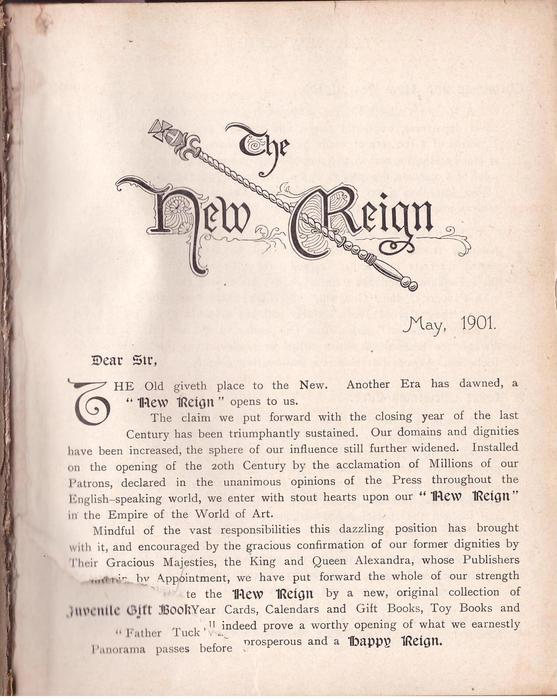 THE NEW REIGN IN THE EMPIRE OF THE WORLD OF ART MAY, 1901