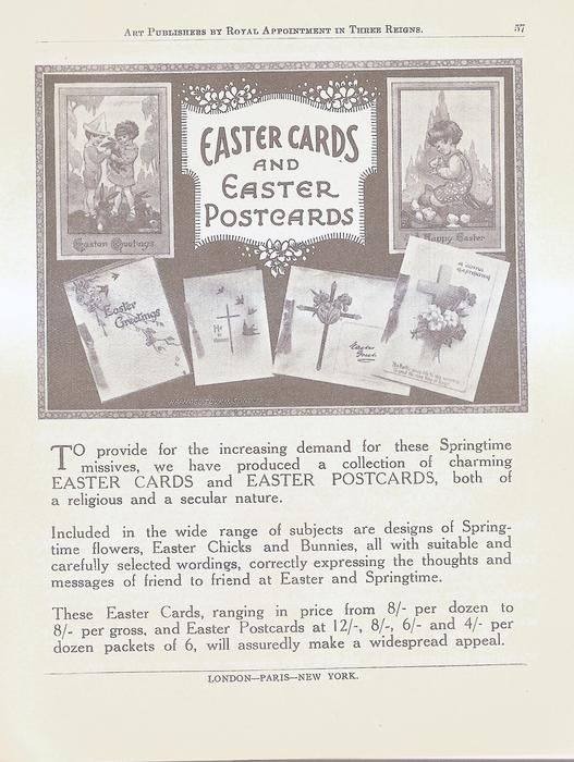 EASTER CARDS AND EASTER POSTCARDS