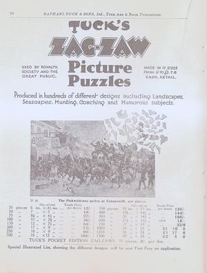 TUCK'S ZAG-ZAW PICTURE PUZZLES