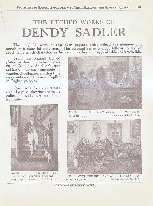THE ETCHED WORKS OF DENDY SADLER