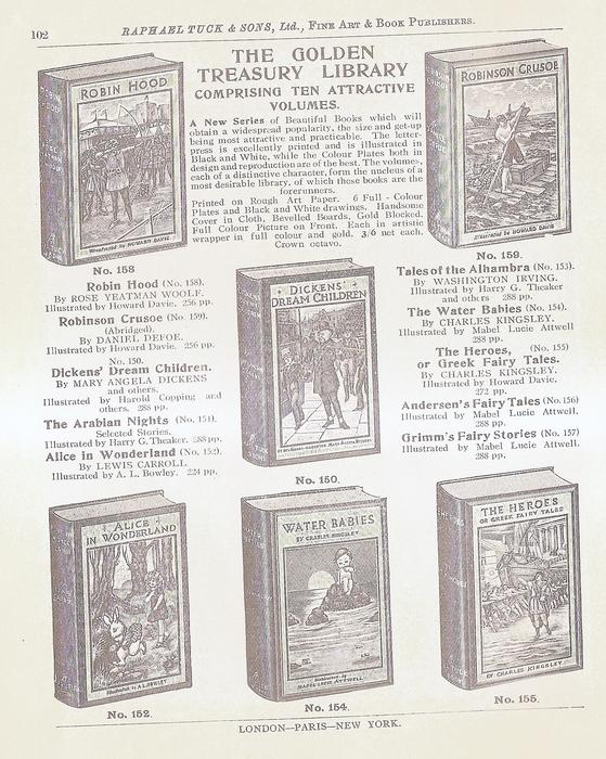 THE GOLDEN TREASURY LIBRARY COMPRISING TEN ATTRACTIVE VOLUMES