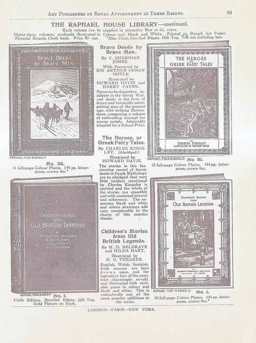 THE RAPHAEL HOUSE LIBRARY - CONTINUED