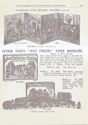 "FATHER TUCK'S ""BUSY FINGERS"" PAPER MODELLING"