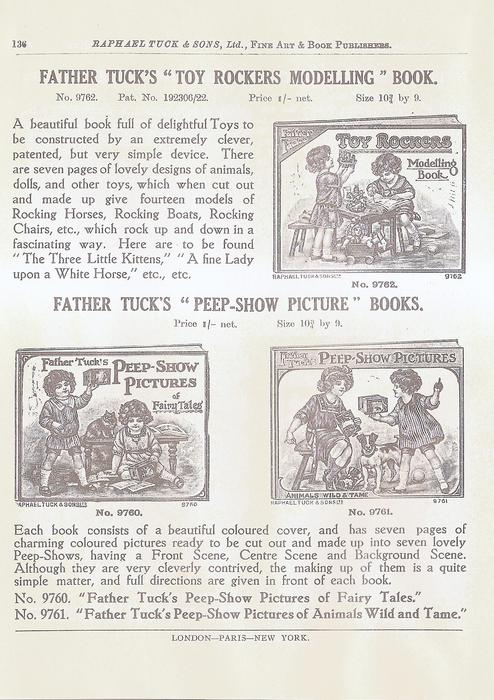 "FATHER TUCK'S ""TOY ROCKERS MODELLING"" BOOK  FATHER TUCK'S ""PEEP-SHOW PICTURE"" BOOKS"