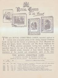 ROYAL CARDS TO THE FRONT