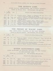 THE QUEEN'S CARD - THE PRINCES OF WALES' CARD - QUEEN ALEXANDRA'S CARD