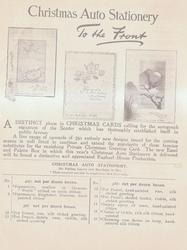 CHRISTMAS AUTO STATIONERY TO THE FRONT