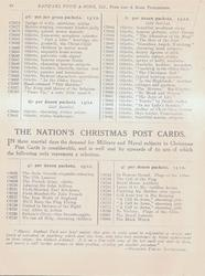THE NATION'S CHRISTMAS POST CARDS