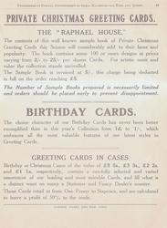 """PRIVATE CHRISTMAS GREETING CARDS  THE """"RAPHAEL HOUSE""""  BIRTHDAY CARDS  GREETING CARDS IN CASES"""