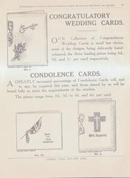 CONGRATULATORY WEDDING CARDS   CONDOLONCE CARDS