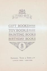1915-16  GIFT BOOKS TOYBOOKS PAINTING BOOKS BIRTHDAY BOOKS