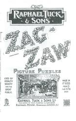 RAPHAEL TUCK & SONS ZAG-ZAW PICTURE PUZZLES dickens puzzle on front