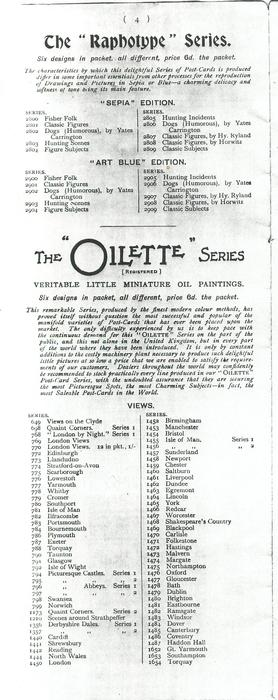 "THE ""RAPHOTYPE"" SERIES - THE ""OILETTE"" SERIES"