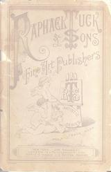 front cover RAPHAEL TUCK & SONS FINE ART PUBLISHERS