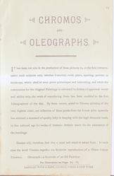 CHROMOS AND OLEOGRAPHS