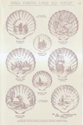 SHELL PLAQUES LARGE AND CABINET