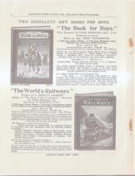 "TWO EXCELLENT GIFT BOOKS FOR BOYS ""THE BOOK FOR BOYS"" - ""THE WORLD'S RAILWAYS"""