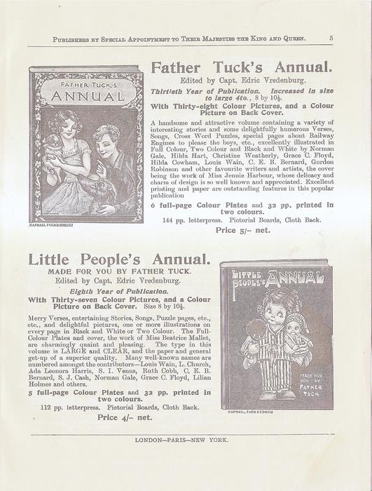 FATHER TUCK'S ANNUAL - LITTLE PEOPLE'S ANNUAL