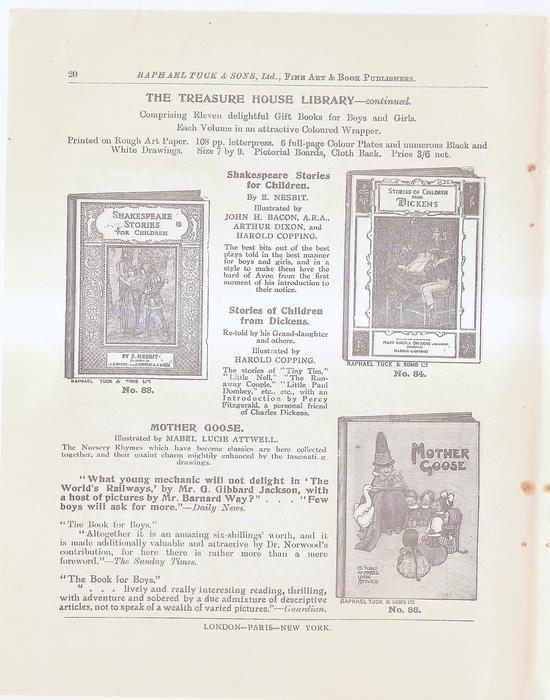 THE TREASURE HOUSE LIBRARY - CONTINUED