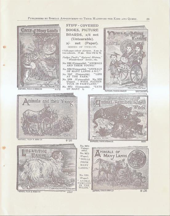 STIFF-COVERED BOOKS, PICTURE BAORDS