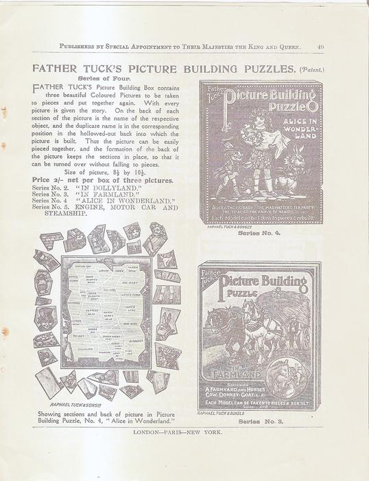 FATHER TUCK'S PICTURE BUILDING PUZZLES