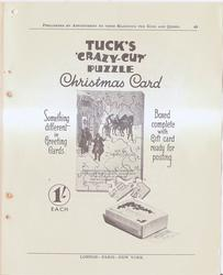 TUCK'S 'CRAZY CUT' PUZZLE CHRISTMAS CARD