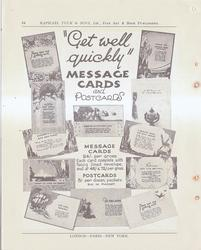 """""""GET WELL QUICKLY"""" MESSAGE CARDS AND POSTCARDS"""