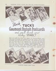 STOCK TUCK'S GAUMONT-BRITIS POSTCARDS