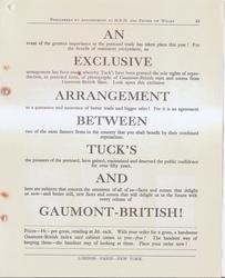 AN EXCLUSIVE ARRANGEMENT BETWEEN TUCK'S AND GAUMONT-BRITISH!