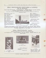 REAL PHOTOGRAPH POSTCARDS OF LONDON AND ITS ENVIRONS