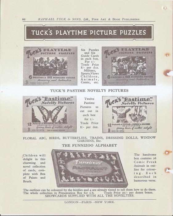 TUCK'S PLAYTIME PICTURE PUZZLES