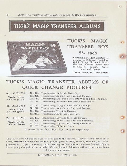 TUCK'S MAGIC TRANSFER ALBUMS