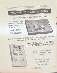 TRANSFER PICTURES IN BOXES