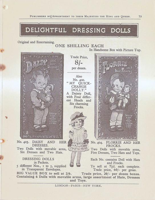 DELIGHTFUL DRESSING DOLLS
