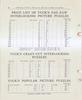 PRICE LIST OF TUCK'S ZAG-ZAW INTERLOCKING PICTURE PUZZLES