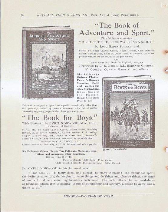 """""""THE BOOK OF ADVENTURE AND SPORT"""" - """"THE BOOK FOR BOYS"""""""