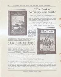 """THE BOOK OF ADVENTURE AND SPORT"" - ""THE BOOK FOR BOYS"""