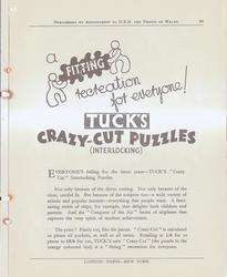 TUCK'S CRAZY-CUT PUZZLES (INTERLOCKING)