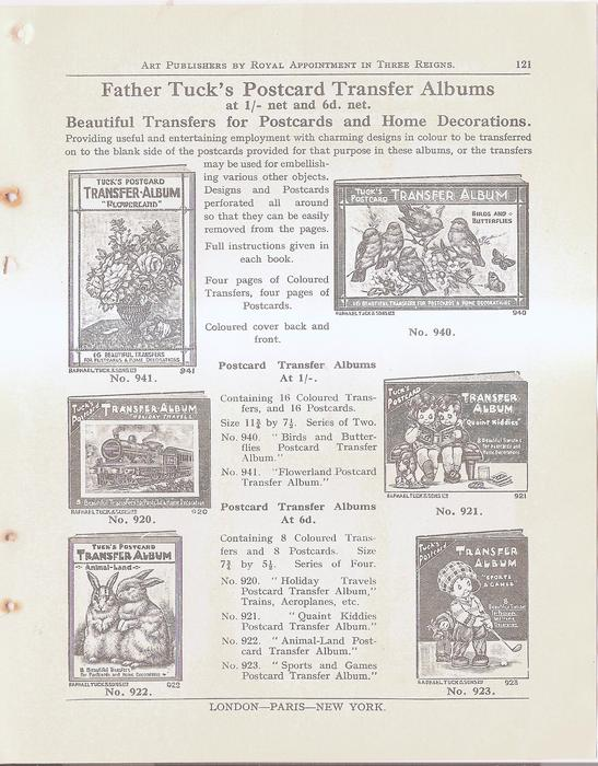 FATHER TUCK'S POSTCARD TRANSFER ALBUMS